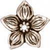 Bead Cap Jasmine Star Antique Silver